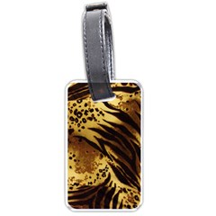 Pattern Tiger Stripes Print Animal Luggage Tags (two Sides) by Amaryn4rt