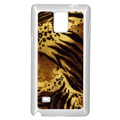 Pattern Tiger Stripes Print Animal Samsung Galaxy Note 4 Case (white) by Amaryn4rt