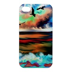 Ocean Waves Birds Colorful Sea Apple Iphone 4/4s Hardshell Case
