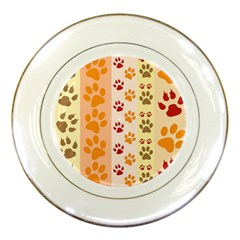 Paw Print Paw Prints Fun Background Porcelain Plates by Amaryn4rt