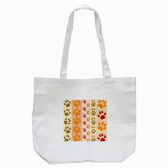 Paw Print Paw Prints Fun Background Tote Bag (white) by Amaryn4rt