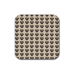 Puppy Dog Pug Pup Graphic Rubber Square Coaster (4 Pack)  by Amaryn4rt
