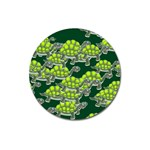 Seamless Tile Background Abstract Turtle Turtles Magnet 3  (Round) Front