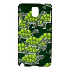 Seamless Tile Background Abstract Turtle Turtles Samsung Galaxy Note 3 N9005 Hardshell Case