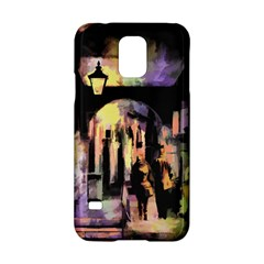 Street Colorful Abstract People Samsung Galaxy S5 Hardshell Case  by Amaryn4rt