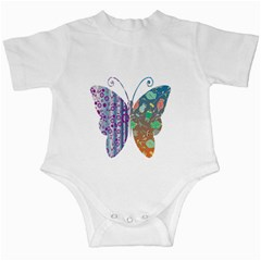 Vintage Style Floral Butterfly Infant Creepers by Amaryn4rt