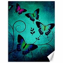Texture Butterflies Background Canvas 12  X 16   by Amaryn4rt