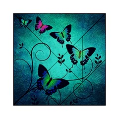Texture Butterflies Background Acrylic Tangram Puzzle (6  X 6 ) by Amaryn4rt