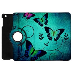 Texture Butterflies Background Apple Ipad Mini Flip 360 Case