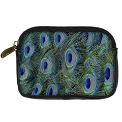 Peacock Feathers Blue Bird Nature Digital Camera Cases by Amaryn4rt