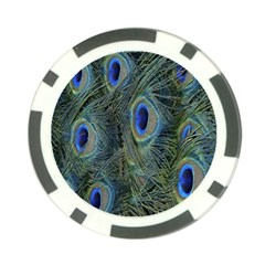 Peacock Feathers Blue Bird Nature Poker Chip Card Guard (10 Pack) by Amaryn4rt