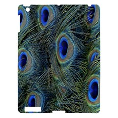 Peacock Feathers Blue Bird Nature Apple Ipad 3/4 Hardshell Case by Amaryn4rt