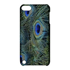 Peacock Feathers Blue Bird Nature Apple Ipod Touch 5 Hardshell Case With Stand by Amaryn4rt