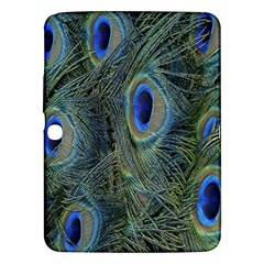 Peacock Feathers Blue Bird Nature Samsung Galaxy Tab 3 (10 1 ) P5200 Hardshell Case  by Amaryn4rt