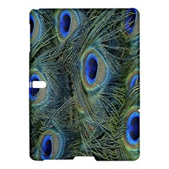 Peacock Feathers Blue Bird Nature Samsung Galaxy Tab S (10 5 ) Hardshell Case  by Amaryn4rt