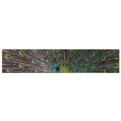 Peacock Feather Beat Rad Blue Flano Scarf (small) by Amaryn4rt