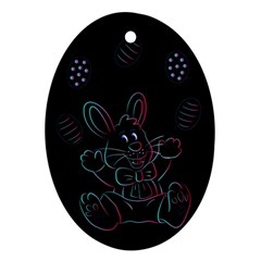 Easter Bunny Hare Rabbit Animal Ornament (oval) by Amaryn4rt