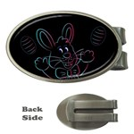 Easter Bunny Hare Rabbit Animal Money Clips (Oval)  Front