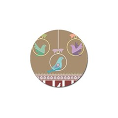 Isolated Wallpaper Bird Sweet Fowl Golf Ball Marker (4 Pack) by Amaryn4rt