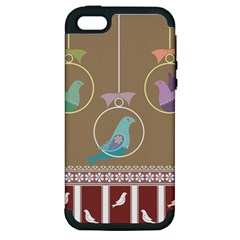Isolated Wallpaper Bird Sweet Fowl Apple Iphone 5 Hardshell Case (pc+silicone)