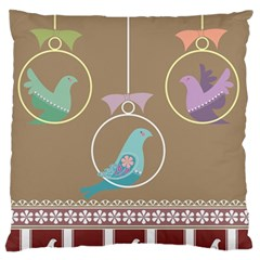 Isolated Wallpaper Bird Sweet Fowl Standard Flano Cushion Case (two Sides) by Amaryn4rt