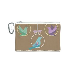 Isolated Wallpaper Bird Sweet Fowl Canvas Cosmetic Bag (s) by Amaryn4rt