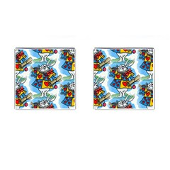 Seamless Repeating Tiling Tileable Cufflinks (square) by Amaryn4rt