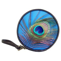 Peacock Feather Blue Green Bright Classic 20 Cd Wallets by Amaryn4rt