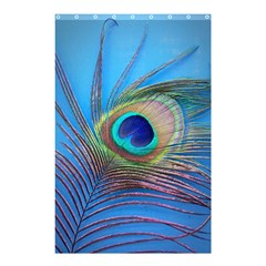 Peacock Feather Blue Green Bright Shower Curtain 48  X 72  (small)