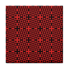 Abstract Background Red Black Tile Coasters by Amaryn4rt