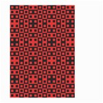 Abstract Background Red Black Large Garden Flag (Two Sides) Front