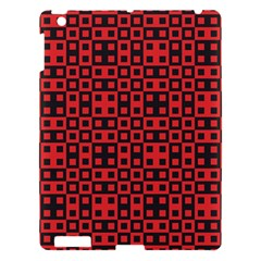 Abstract Background Red Black Apple Ipad 3/4 Hardshell Case by Amaryn4rt
