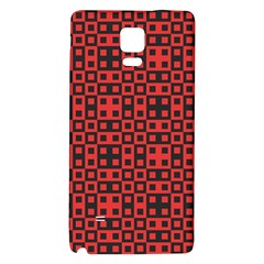 Abstract Background Red Black Galaxy Note 4 Back Case by Amaryn4rt