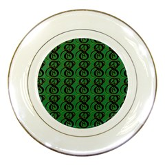 Abstract Pattern Graphic Lines Porcelain Plates by Amaryn4rt