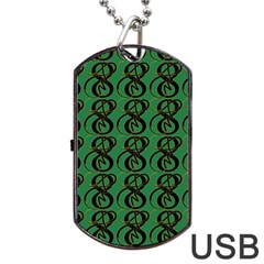 Abstract Pattern Graphic Lines Dog Tag Usb Flash (two Sides) by Amaryn4rt