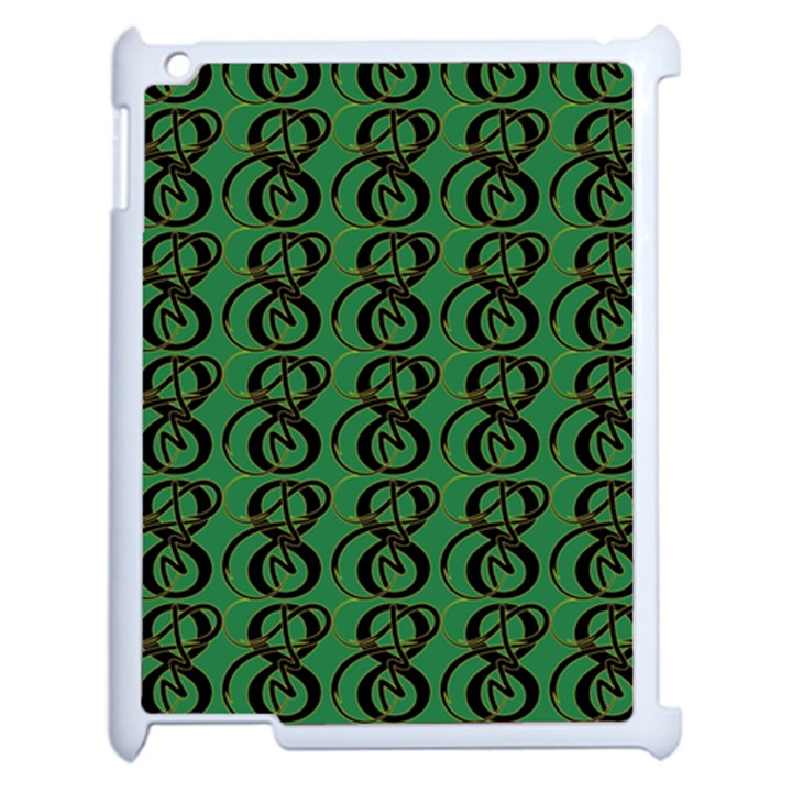 Abstract Pattern Graphic Lines Apple iPad 2 Case (White)