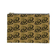 Abstract Swirl Background Wallpaper Cosmetic Bag (large)  by Amaryn4rt
