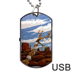 Acrylic Paint Paint Art Modern Art Dog Tag Usb Flash (two Sides) by Amaryn4rt