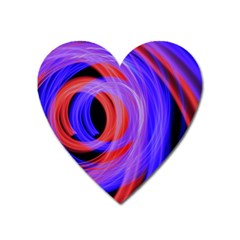 Background Blue Red Heart Magnet by Amaryn4rt