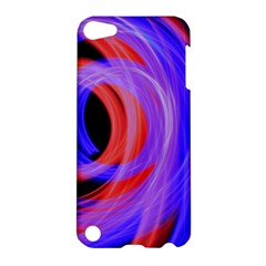 Background Blue Red Apple Ipod Touch 5 Hardshell Case by Amaryn4rt