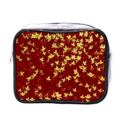 Background Design Leaves Pattern Mini Toiletries Bags by Amaryn4rt