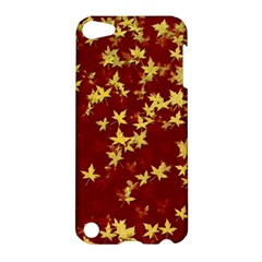 Background Design Leaves Pattern Apple Ipod Touch 5 Hardshell Case by Amaryn4rt