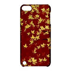 Background Design Leaves Pattern Apple Ipod Touch 5 Hardshell Case With Stand by Amaryn4rt