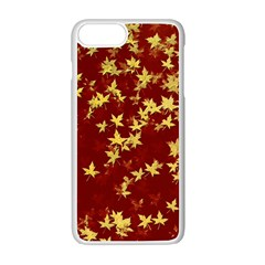 Background Design Leaves Pattern Apple Iphone 7 Plus White Seamless Case by Amaryn4rt