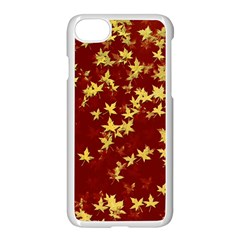 Background Design Leaves Pattern Apple Iphone 7 Seamless Case (white) by Amaryn4rt