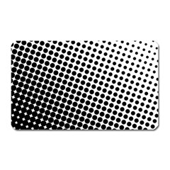Background Wallpaper Texture Lines Dot Dots Black White Magnet (rectangular) by Amaryn4rt