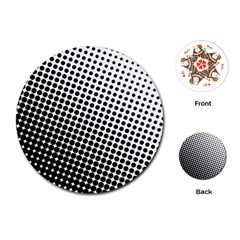 Background Wallpaper Texture Lines Dot Dots Black White Playing Cards (round)  by Amaryn4rt