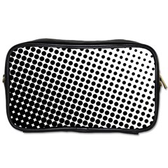 Background Wallpaper Texture Lines Dot Dots Black White Toiletries Bags 2 Side by Amaryn4rt