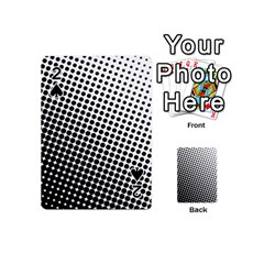 Background Wallpaper Texture Lines Dot Dots Black White Playing Cards 54 (mini)  by Amaryn4rt