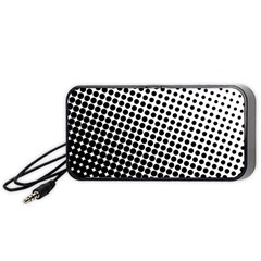 Background Wallpaper Texture Lines Dot Dots Black White Portable Speaker (black) by Amaryn4rt